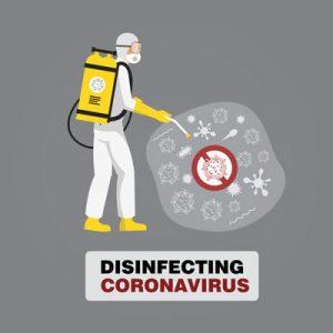 Coronavirus COVID-19 disinfection in Cambodia